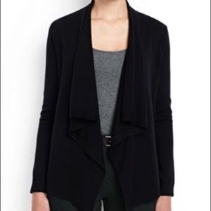 Express Black Open Waterfall Cardigan